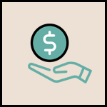 Icon showing giving