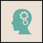 Green thinking person icon