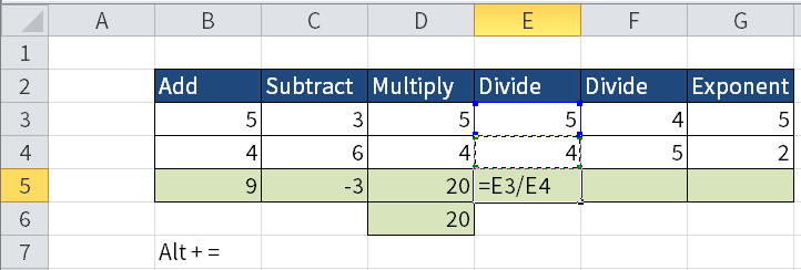 Screenshot showing how to divide two numbers when the nominator is greater than the denominator.