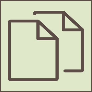 light green icon of financial statements