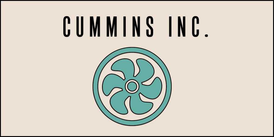 Figure of natural gas turbine with text about Cummins Inc.
