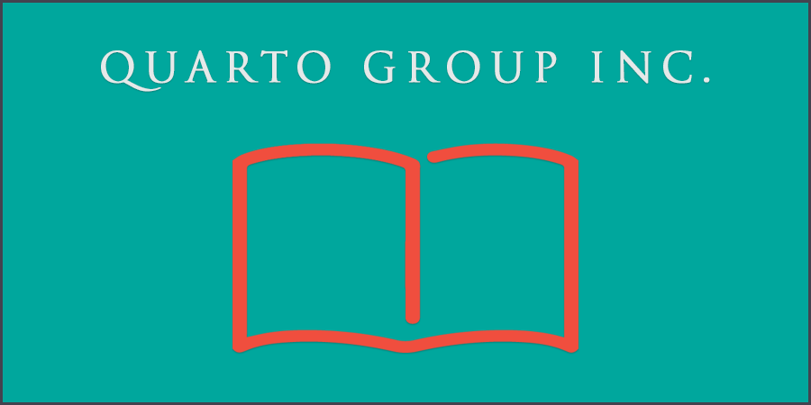 Green picture of book icon with text about Quarto Group Inc.