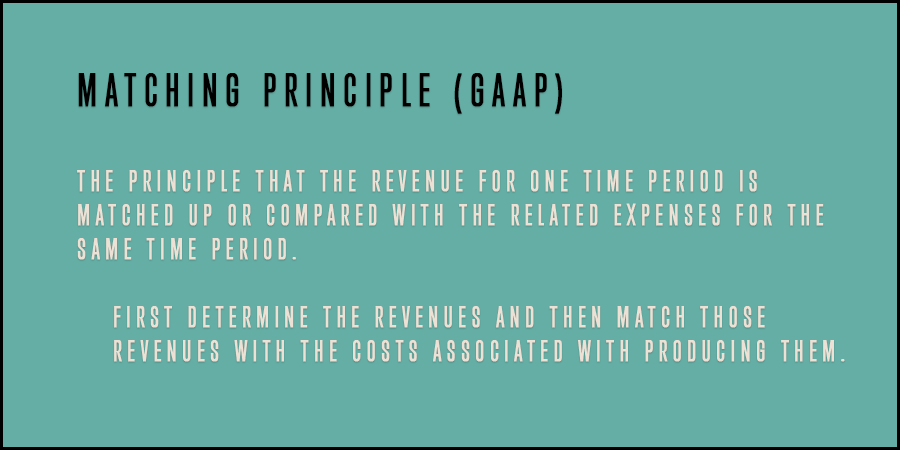 Definition of the Matching principle in accounting.