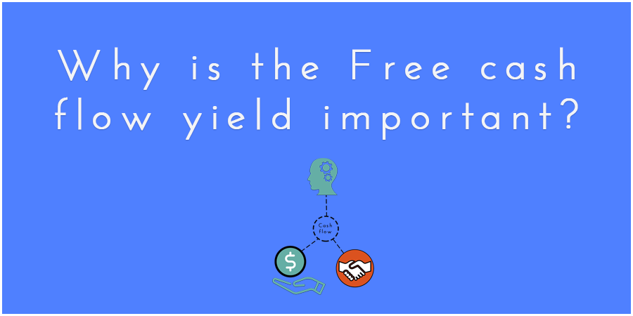 Blue figure with cash flow icon and text about Free cash flow yield.